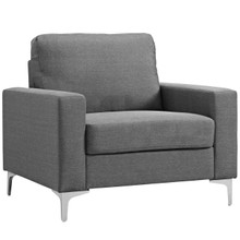 Allure Upholstered Armchair, Fabric, Grey Gray 13657