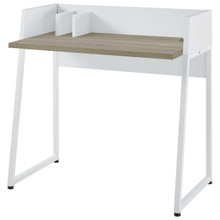 Relay Wood Writing Desk, Wood, White 13665