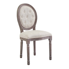 Arise Vintage French Upholstered Fabric Dining Side Chair, Fabric, Beige 13670