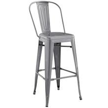 Promenade Bar Side Stool, Metal Steel, Silver 13698
