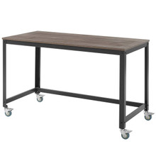 Vivify Computer Office Desk, Wood Metal Steel, Black 13787