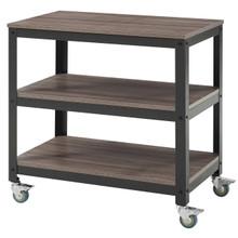 Vivify Tiered Serving Stand, Wood Metal Steel, Black 13788