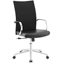 Verge Webbed Back Office Chair, Fabric, Black 13793