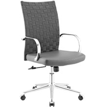 Verge Webbed Back Office Chair, Fabric, Grey Gray 13795
