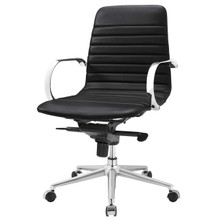 Groove Ribbed Back Office Chair, Fabric, Black 13796