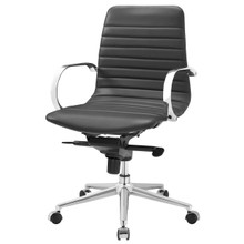 Groove Ribbed Back Office Chair, Fabric, Grey Gray 13797