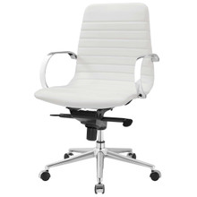Groove Ribbed Back Office Chair, Fabric, White 13798