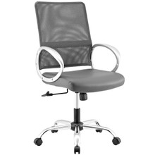 Command Mesh and Vinyl Office Chair, Fabric, Grey Gray 13802