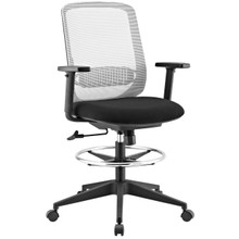 Acclaim Mesh Drafting Chair, Fabric, Grey Gray 13804