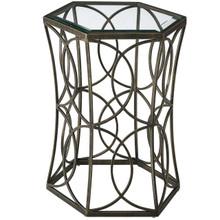 """Circle 19.5"""" Side Table, Metal Steel,  Black 13840"""