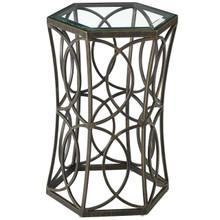 """Circle 15.5"""" Side Table, Metal Steel,  Black 13841"""