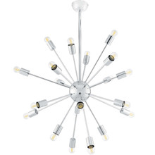 Volley Pendant Chandelier, Metal Steel, Silver 13849