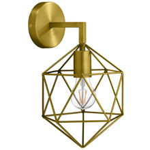 Adept Brass Wall Sconce Light Fixture, Brass Metal Steel, Gold 13861