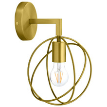 Perimeter Brass Wall Sconce Light Fixture, Brass Metal Steel Steel, Gold 13862