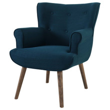 Cloud Upholstered Armchair, Fabric, Navy Blue 13883