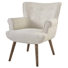 Cloud Upholstered Armchair, Fabric, Beige 13884