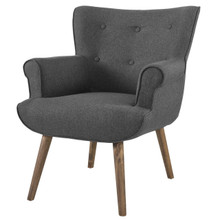 Cloud Upholstered Armchair, Fabric, Grey Gray 13885