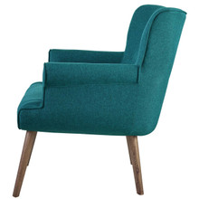 Cloud Upholstered Armchair, Fabric, Aqua Blue 13886