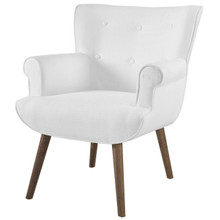 Cloud Upholstered Armchair, Fabric, White 13887