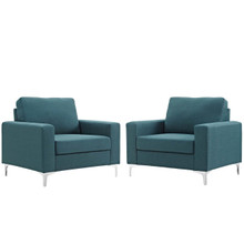 Allure 2 Piece Armchair Set, Fabric, Blue 13981