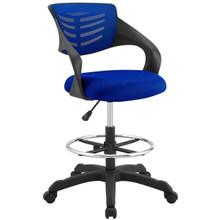 Thrive Mesh Drafting Chair, Fabric, Blue 14064