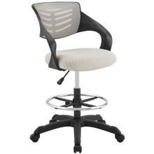 Thrive Mesh Drafting Chair, Fabric, Grey Gray 14065