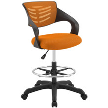 Thrive Mesh Drafting Chair, Fabric, Orange 14066
