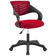 Thrive Mesh Office Chair, Fabric, Red 14072