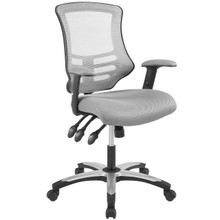 Calibrate Mesh Office Chair, Fabric, Grey Gray 14074