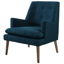 Leisure Upholstered Lounge Chair, Fabric, Navy Blue 14078