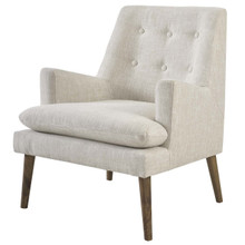 Leisure Upholstered Lounge Chair, Fabric, Beige 14079