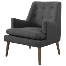Leisure Upholstered Lounge Chair, Fabric, Grey Gray 14080