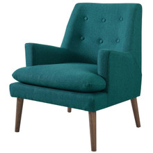 Leisure Upholstered Lounge Chair, Fabric, Aqua Blue 14081