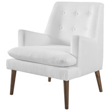 Leisure Upholstered Lounge Chair, Fabric, White 14082
