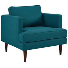 Agile Upholstered Fabric Armchair, Fabric, Aqua Blue 14088