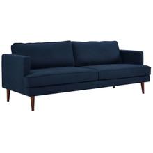 Agile Upholstered Fabric Sofa, Fabric, Blue 14094