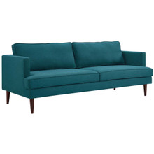 Agile Upholstered Fabric Sofa, Fabric, Aqua Blue 14096
