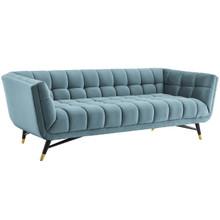 Adept Upholstered Velvet Sofa, Velvet Fabric, Blue 14105