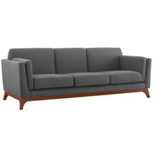 Chance Upholstered Fabric Sofa, Fabric, Grey Gray 14115