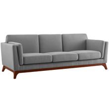 Chance Upholstered Fabric Sofa, Fabric, Light Grey Gray 14116