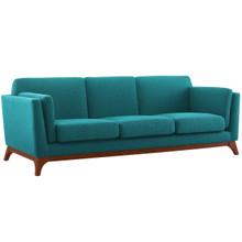Chance Upholstered Fabric Sofa, Fabric, Aqua Blue 14117