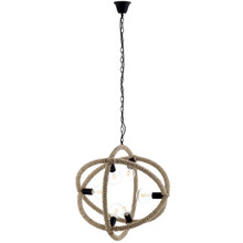 Transpose Rope Pendant Chandelier, Metal Steel Rope, Beige 14146