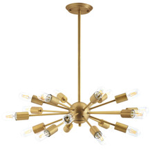 Resolve Brass Pendant Chandelier, Brass Metal Steel, Gold 14149