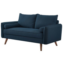 Revive Upholstered Fabric Loveseat, Fabric, Navy Blue 14155