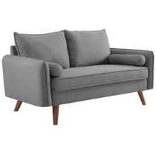 Revive Upholstered Fabric Loveseat, Fabric, Light Grey Gray 14158
