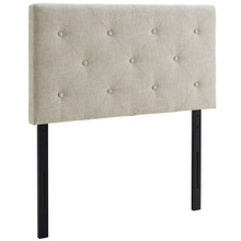 Terisa Twin Upholstered Fabric Headboard, Twin Size, Fabric, Beige, 14340