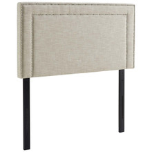 Jessamine Twin Upholstered Fabric Headboard, Twin Size, Fabric, Beige, 14344