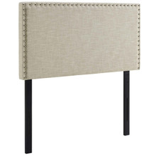 Phoebe Twin Upholstered Fabric Headboard, Twin Size, Fabric, Beige, 14348