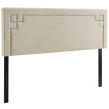 Josie Queen Upholstered Fabric Headboard, Queen Size, Fabric, Beige, 14358