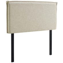 Camille Twin Upholstered Fabric Headboard, Twin Size, Fabric, Beige, 14360